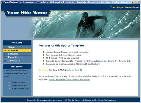 Surfing Template Smart Website Templates