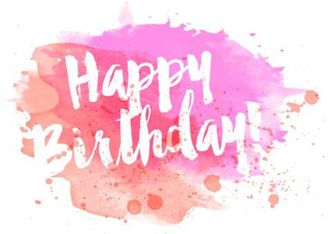 Birthday Card Watercolor Happy Birthday Watercolor Greeting Card Vector Download