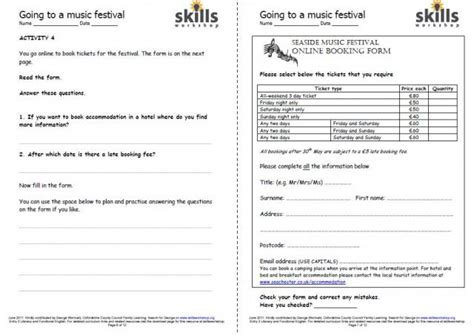lesson plan template city and guilds going to a music festival e3 practice literacy