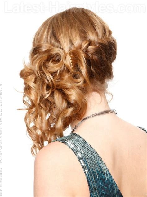 how to achieve swept back hairstyles for women u tube 25 best ideas about cute prom hairstyles on pinterest