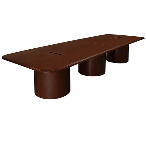 12 Conference Table by 12 Foot Conference Table With Grommets Mahogany