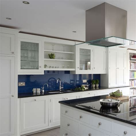 white blue kitchen easy glass splashbacks feeling blue in a good way