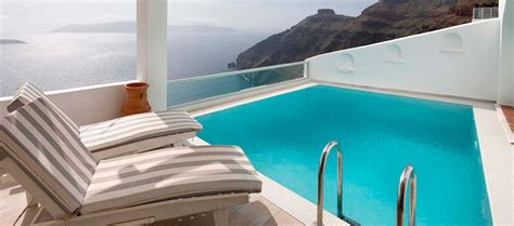 hotel with swimming pool in room sunset suite with swimming pool sea view hotel in firostefani agali hotel in