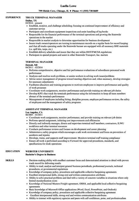 Terminal Manager Sle Resume terminal manager resume sles velvet