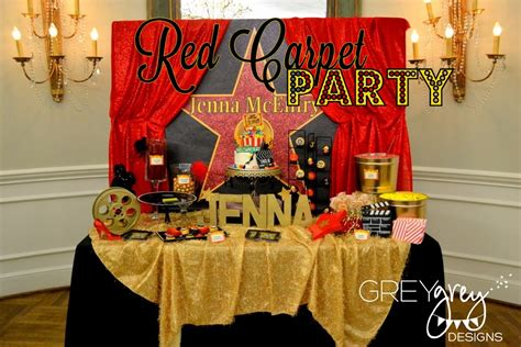 birthday themes in red greygrey designs my parties jenna s red carpet