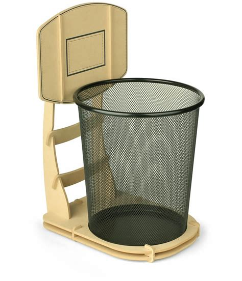 Diy Charging Dock by Wooden Basketball Stand Shape Wastebasket Feelgift