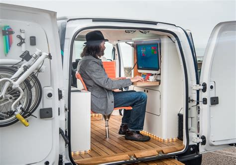 nissan nv200 office mobiles b 252 ro mit elektroantrieb nissan e nv200 workspace