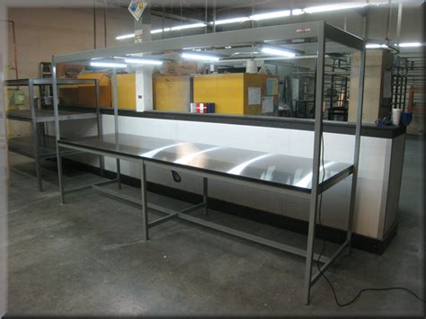 work bench lighting rdm workbench h 105pclg inspection workstation with