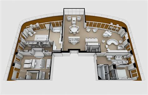 Floor Plan And Furniture Placement Seven Seas Explorer Cruise Ship Luxury All Inclusive