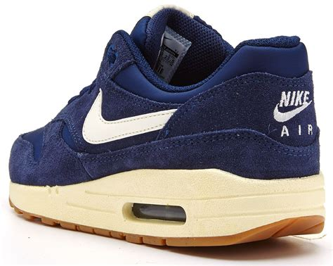 Nike Airmax 1 Blue Navy nike air max 1 gs suede trainers navy blue 555766 404 ebay