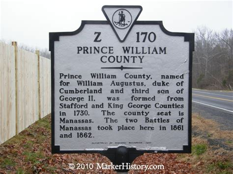 Prince William County Search Prince William County Z 170 Marker History