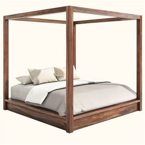 Wood Canopy Bed Frame 17 Best Ideas About Wood Canopy Bed On Pinterest Nature Bedroom Canopy Frame And Canopy Curtains