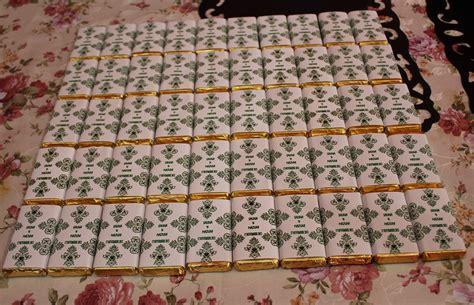 Kotak 8 X 8 X 17 Ma coklat wrapper tempahan 50 coklat wrapper majlis