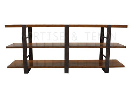 Metal And Reclaimed Wood Bookcase crafted reclaimed wood metal bookcase by mortise