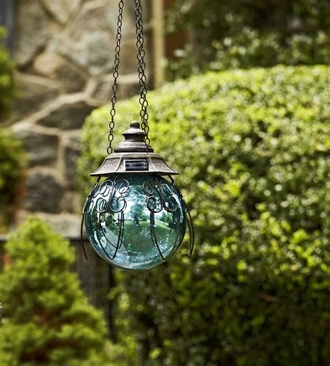 garden oasis 8in solar hanging gazing ball blue shop your way online shopping earn points