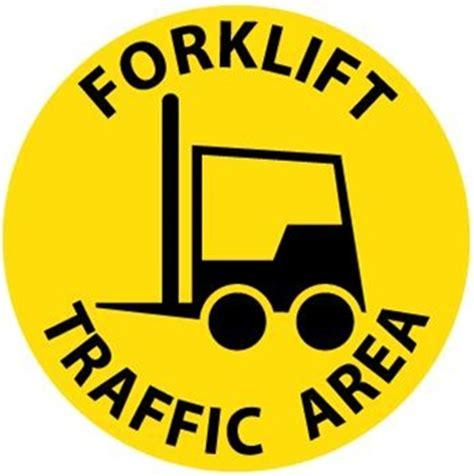 Sticker Safety Sign Forklift Traffic Area Forklift Traffic Area Safety Floor Sign