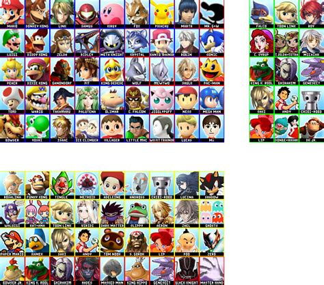 Dress Roster smash bros 4 complete roster by