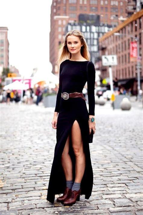 elegant  classy high slit dresses   splendid