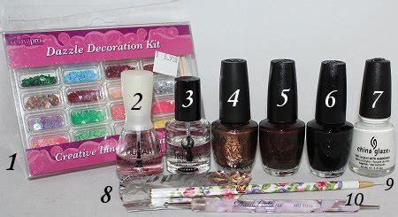 nail art kit tutorial nail art tutorial reindeer nails rudolph nails swatch
