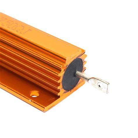 wirewound resistor as heater 50 ohm 100w gold aluminum shell resistance wirewound resistor alex nld