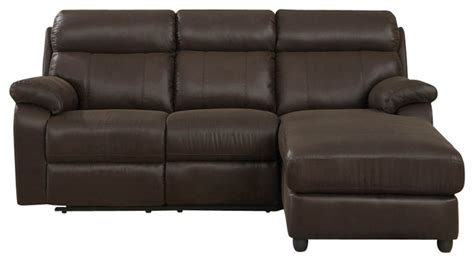 Brown Microfiber Sectional Sofa by Homelegance Gaines Reclining Sectional Sofa In Brown