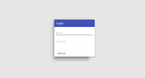 tutorial material design lite material design lite login page login form exle