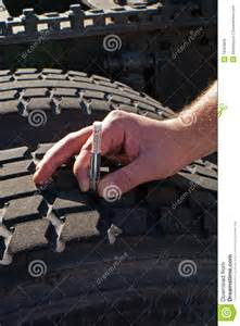 Can You Use Car Tires For A Trailer Measuring Tread Depth Tractor Trailer Truck Tire Royalty
