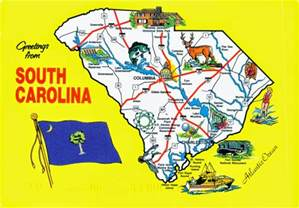 South Carolina State Map by World Come To My Home December 2014