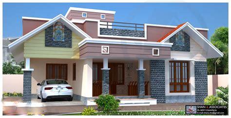 1300 square single floor 2 bedroom kerala style home