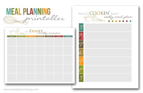 free printable meal planning guide 5 best images of meal planning guide printable