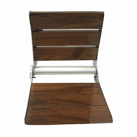 modern wood bench with back 18 quot serena folding shower bench back rest seat modern