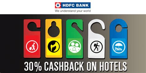 hdfc credit card make my trip offers flat 30 cashback on hotels booked with hdfc credit cards