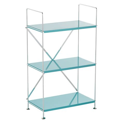turquoise barcelona 3 shelf bookcase the container store