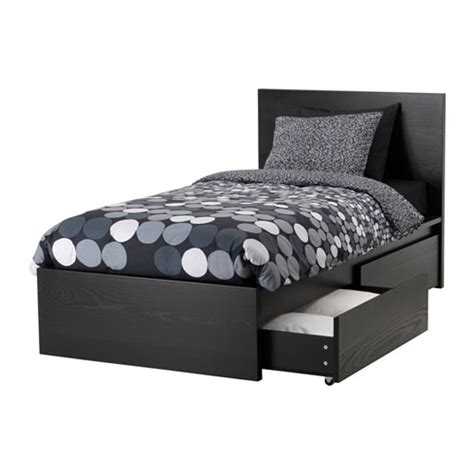 Malm Bed With Drawers by Malm High Bed Frame 2 Storage Boxes Lur 246 Y