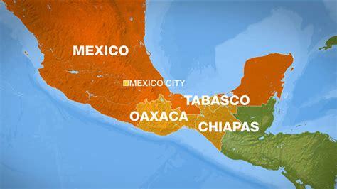 map southern mexico magnitude 8 1 earthquake strikes southern mexico