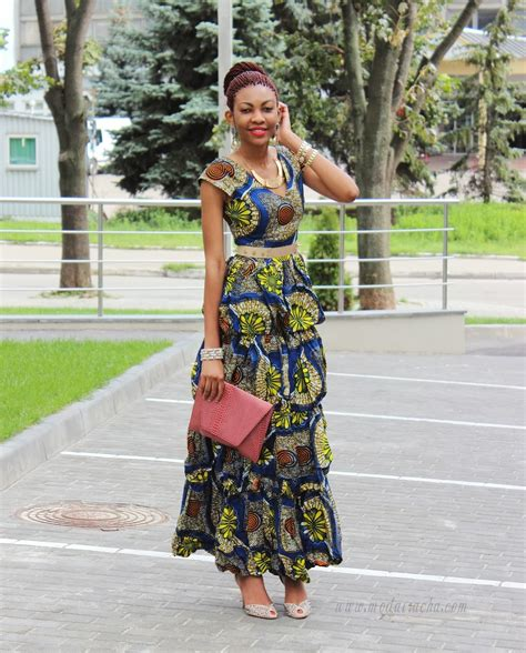 images of nigerian women in ankara style long ankara dress with front slit modern african dress