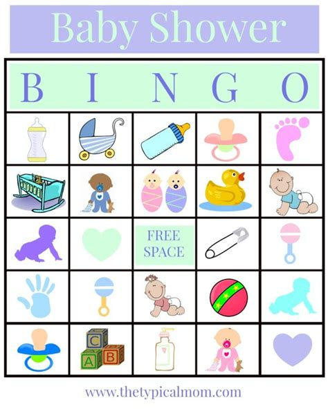 free printable baby shower bingo template baby shower bingo 183 the typical