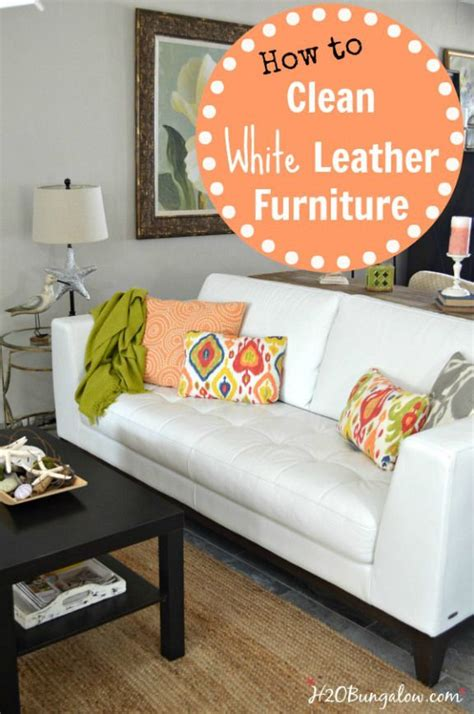 How To Disinfect Leather Sofa How To Clean White Leather Furniture Leather Furniture And White Leather