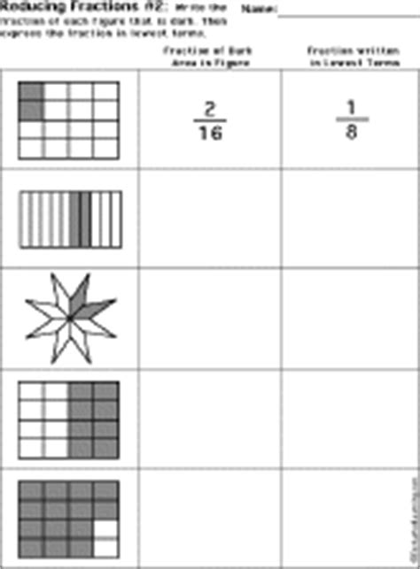 Lowest Term Worksheet by How To Reduce Fractions To Lowest Terms Worksheets