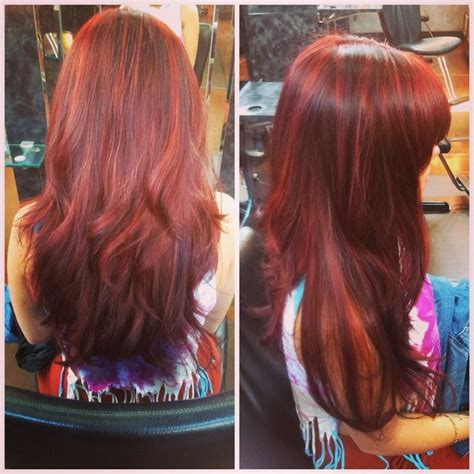 red hair with blue highlights red hair with dimension diane z mueller blue based red