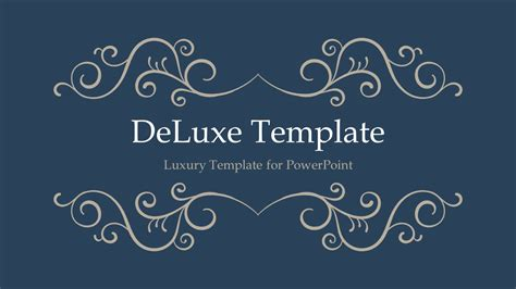 themes slides deluxe luxury powerpoint template