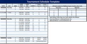 Golf Tournament Program Template by Tournament Schedule Template 6 Free Templates Schedule