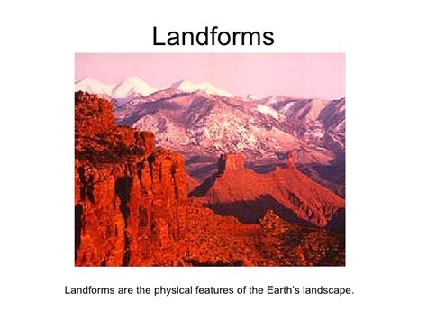 Landscape Lesson Powerpoint 2nd Grade Landform Ramel