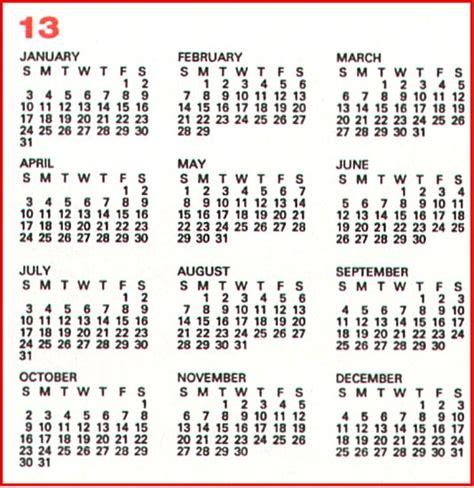 13 months calendar template 2016