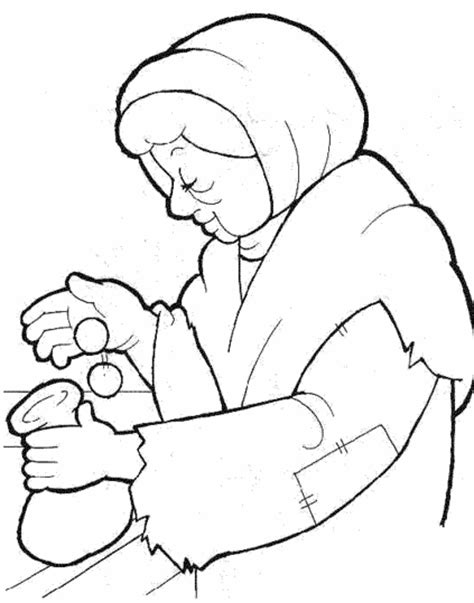 coloring pages jesus raising widow s 1000 images about la veuve et le pharisien on