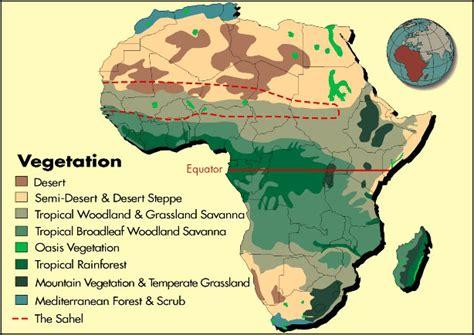 africa map vegetation africa s vegetation