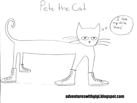 pete the cat coloring page shoes pete the cat coloring book i love my white shoes page