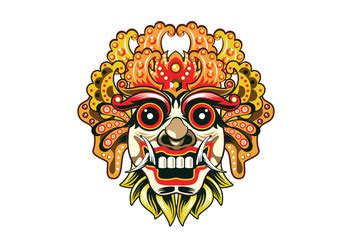 Topeng Vector barong vector mask free vector 407867 cannypic