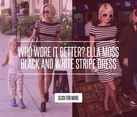 Who Wore It Better Ella Moss Black And White Stripe Dress by Who Wore It Better Ella Moss Black And White Stripe Dress