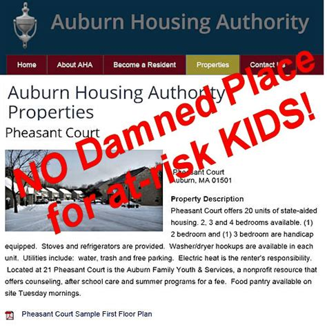 auburn housing authority rabid republican blog another dead baby on your watch charlie